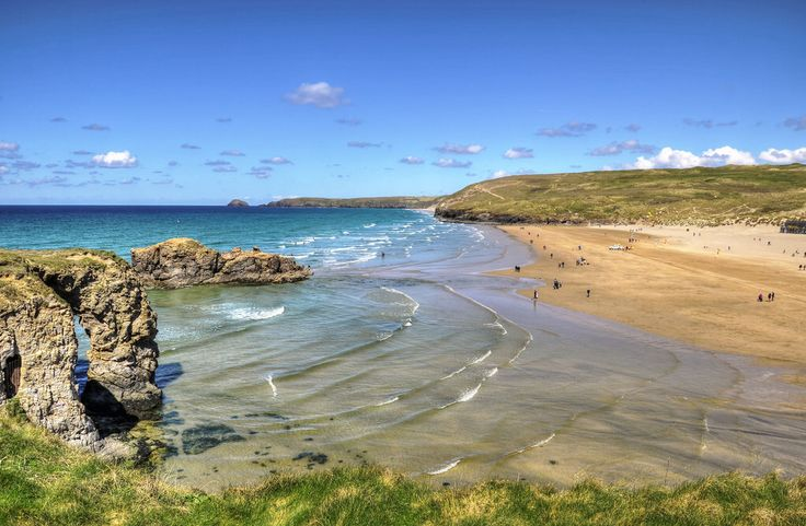 The beach at Perranporth, Cornwall