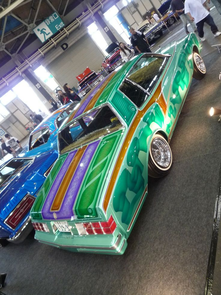 Chicano style painted cars Chicano style painted cars