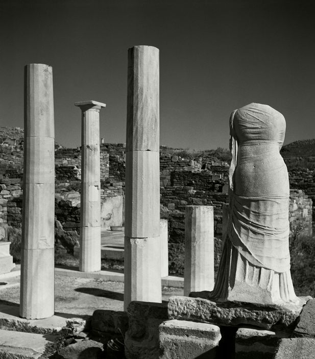 Herbert List - GREECE. Cyclades. Island of Delos. Kleopatra's house. 1937.