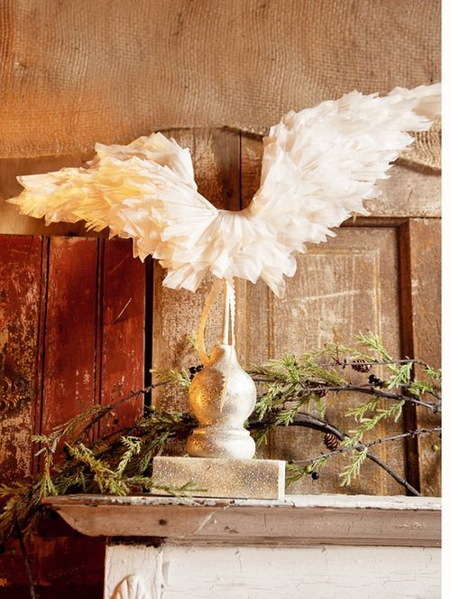 handmade angel wings: Ideas, Angel Wings, Christmas Angel, Paper Wings, Diy Wings, Handmade Angels, Paper Angel, Crafts, Handmade Paper