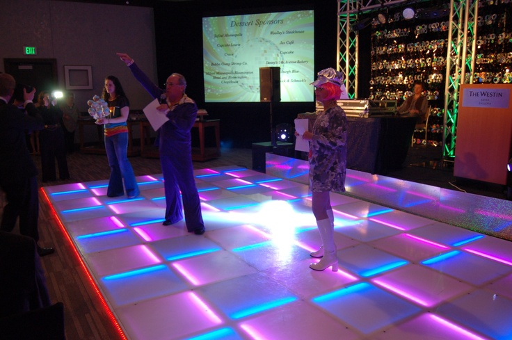 Throw a Disco Themed Corporate Event with an LED Dance Floor.
