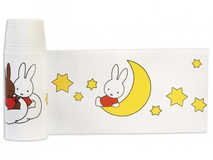 Nijntje, woezel en pip, dikkie dik 33078 Miffy wallpaper border stars sterren Nijntje behangrand www.wemekampschildersbedrijf.nl