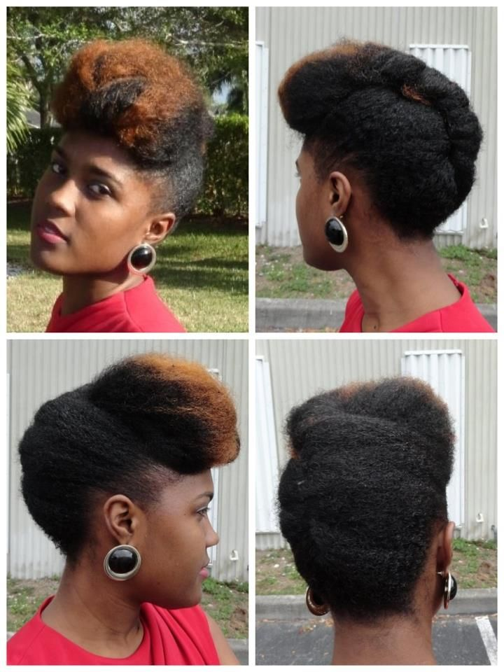 Natural hair. To learn how to grow your hair longer click here - http://blackhair.cc/1jSY2ux