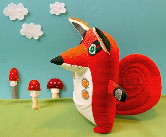 Neeltje Notenkraker cute handmade red by StitchedCreatures on Etsy, €59.00 nutty red squirrel plushie toy