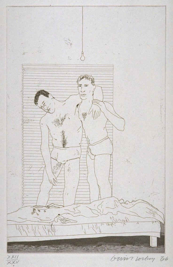 david hockney nude  paintings | David Hockney , In the Dull Village , 1966