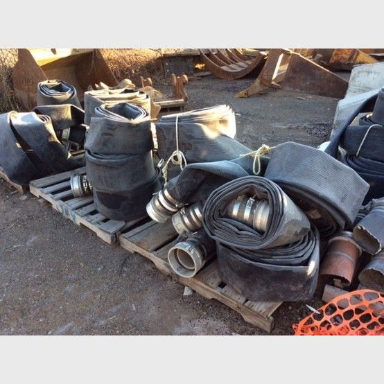Used 6 in. lay flat hose for sale   Lay flat hose supplier worldwide - Savona Equipment
