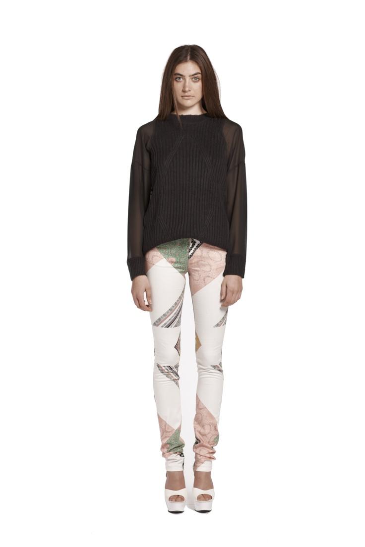 translucent past knit jumper & we surrender jean