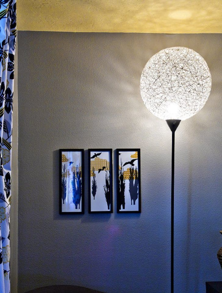 Lamp lighting 59 pinterest beautiful diy makeover of string ball floor lamp mozeypictures Images