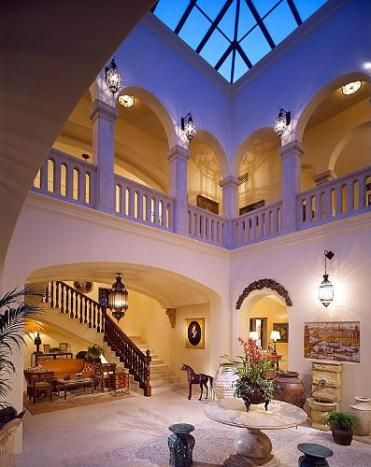 Entryway of richard landry designed spanish style home in for Moorish homes