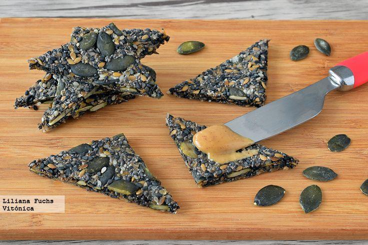 Receta de crackers crujientes de semillas y avena. Con fotos del paso a paso…