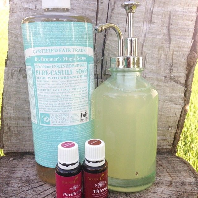 This Non-Toxic Liquid Dish Soap kicks germs, molds, viruses, & all their friends in the booty! Excellent for those leftovers that were forgotten in the fridge last week & great for your raw chicken covered sink. We use this recipe with confidence and hope you too enjoy!  Non-Toxic Liquid Dish Soap!  1/3 Pure Castile Soap (Unscented Baby-Mild) 2/3 Filtered Water 5-10 drops Purification essential oil  5-10 drops Thieves essential oil - Pour all ingredients into a glass container and shake it…
