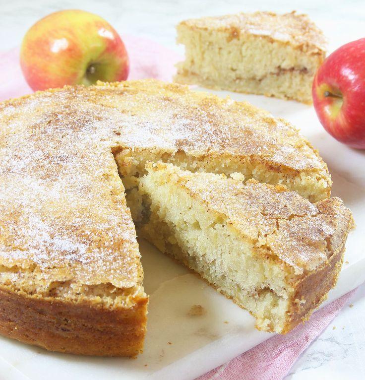 Lindas rivna äppelsockerkaka – Lindas Bakskola
