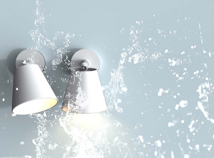 IP S6   Wall lamp for the bathroom from Nordlux   Designed by Bønnelycke mdd   Nordic and Scandinavian style   Produced in white metal   Light   Decoration   Designed in Denmark