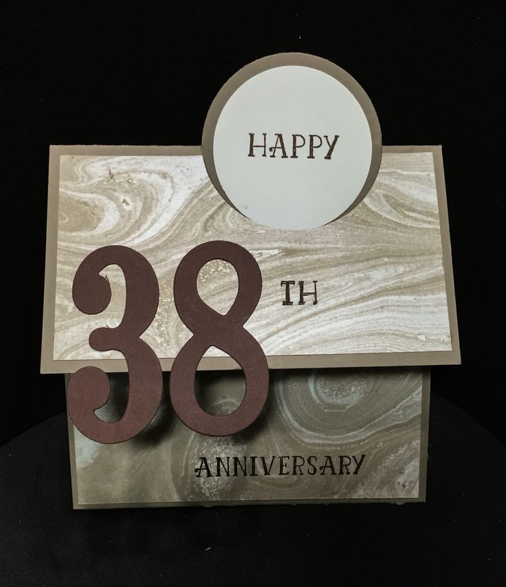 Pinning Anniversary card I just made for my husband on 4/24--he doesn't have an account. So I know he won't see it. All Stampin' Up products. Number of years, tip top taupe, whisper white, chocolate chip. DSP is from 2016's SAB. I got sketch from #Patty Bennett's blog video.