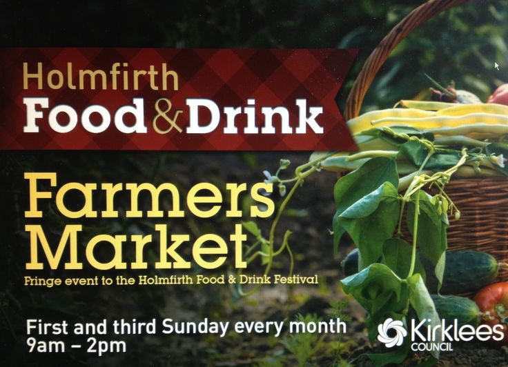 New Holmfirth Farmers Market leaflet