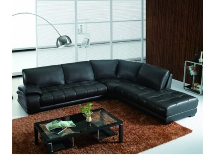 Black Sectional Sofa Cloud Modular And Ottoman