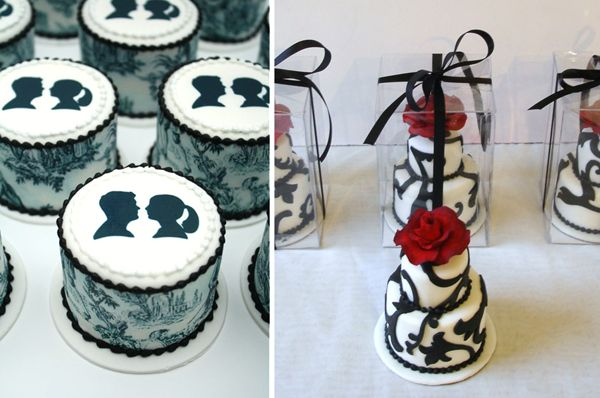 Mini two tier guest cakes will definitely make an appearance at my wedding!