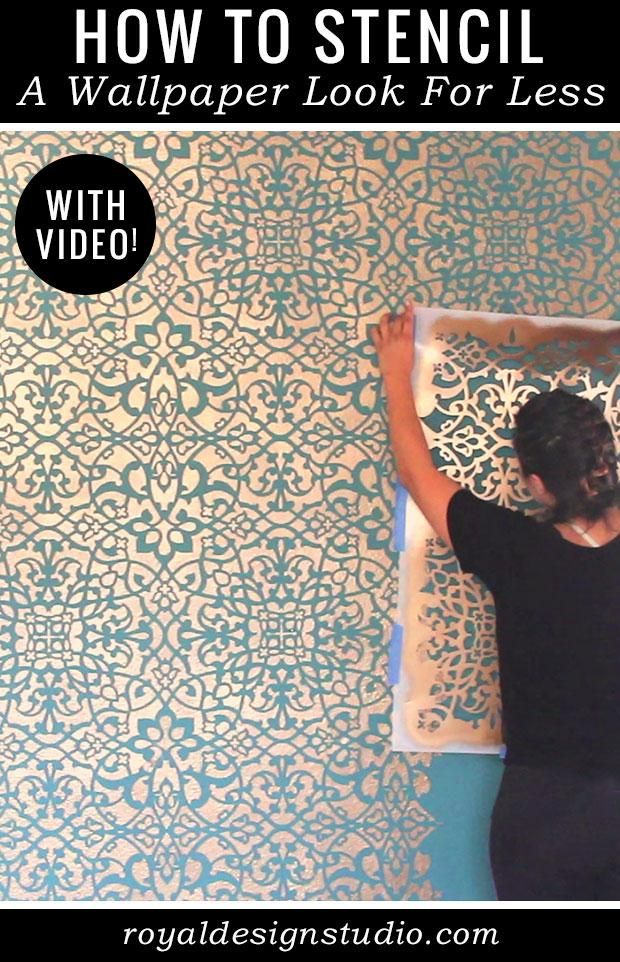 Are you still looking for wallpaper to decorate a favorite accent wall but can't seem to find the PERFECT one? Forget the hassle of finding the wallpaper that perfectly fits your style! Get creative in your decorating by creating your own custom wallpaper look by painting with Wall Stencils.