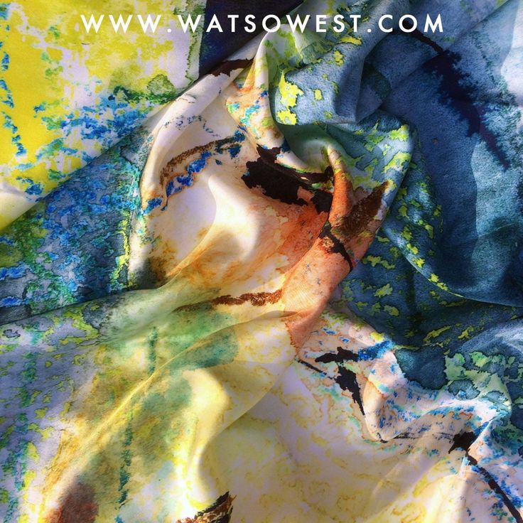 Watson West silk scarves coming soon.   Designed, printed and made in the UK.  Available soon from our website www.watsonwest.com