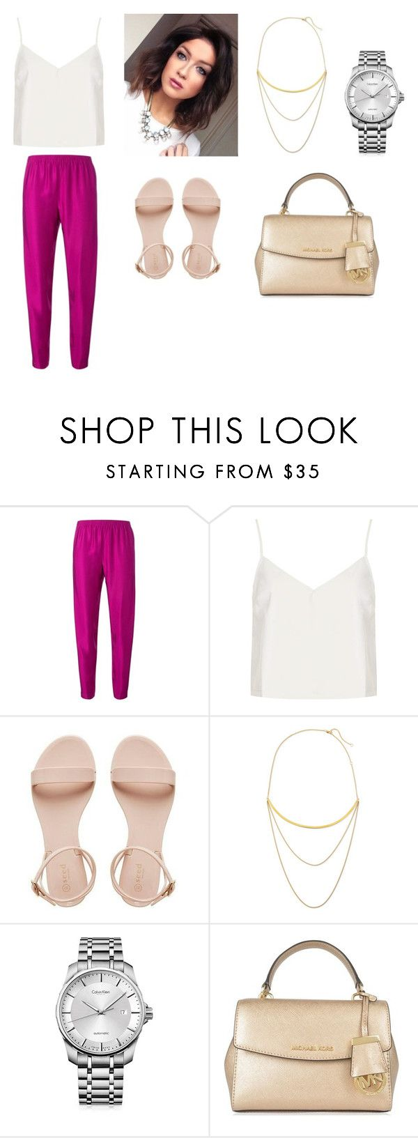 """))"" by maria-surova ❤ liked on Polyvore featuring Forte Forte, Motel, Jennifer Zeuner, Calvin Klein and MICHAEL Michael Kors"