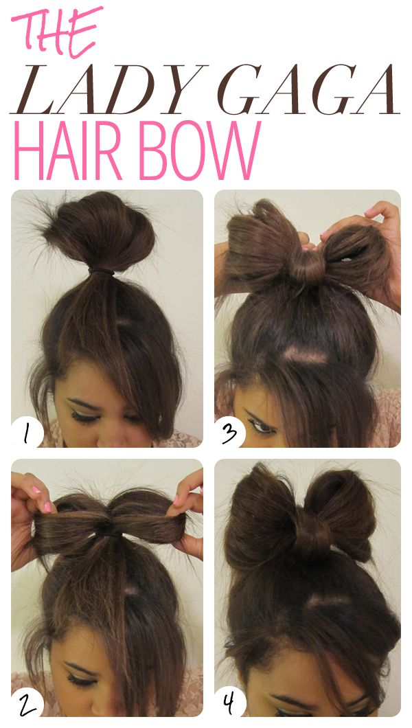 Hairbow!: Hairs Bows, Crazy Hairs Day, Bows Ties, Bows Buns, Hairs Idea, Lady Gaga, Hairs Styles, Gaga Hairs, Long Hairs