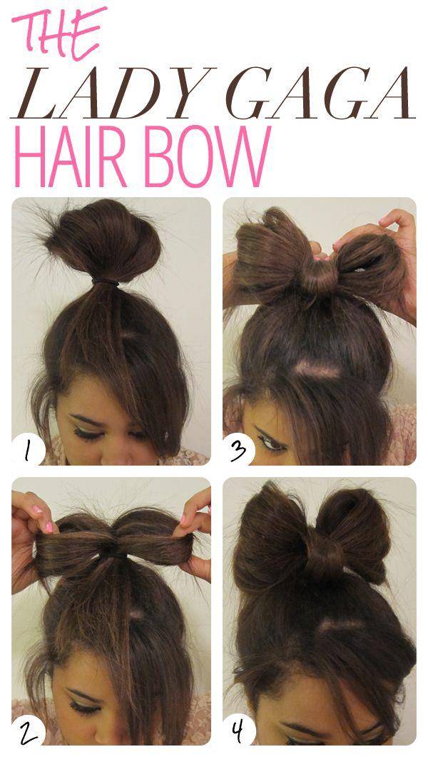 Бант из волос на как делать