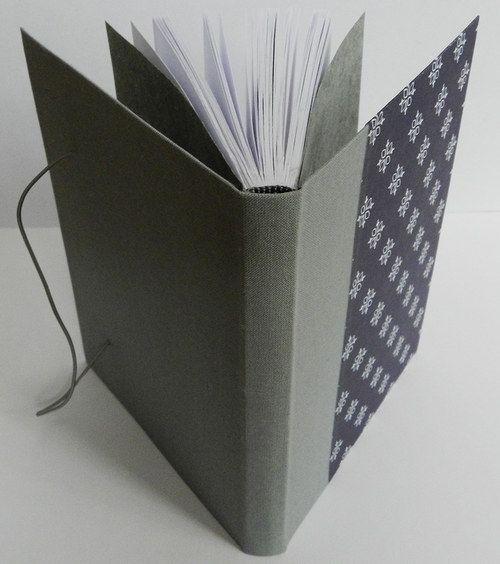 Handmade notebook Material: canvas, scrapbook paper
