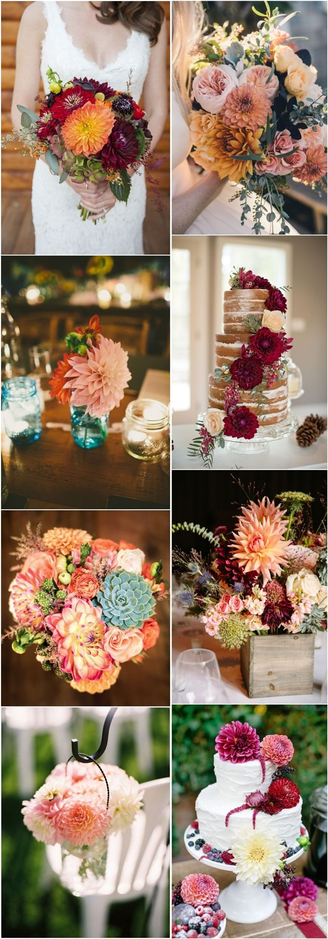dahlia wedding ideas- wedding flower ideas see more: http://www.deerpearlflowers.com/40-dahlias-wedding-bouquets-and-cakes/