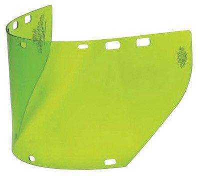 "Salisbury by Honeywell 7 1/2"" X 20"" X .06"" Green Unbound Polycarbonate Arc Flash Replacement Faceshield"