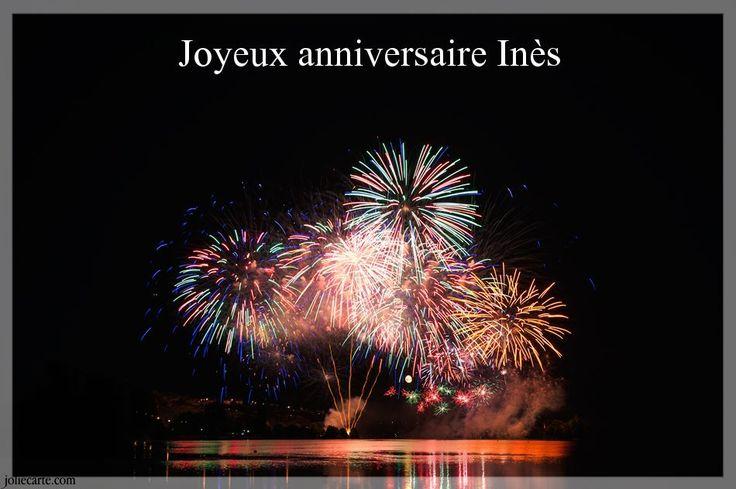 Cartes virtuelles joyeux anniversaire Inès