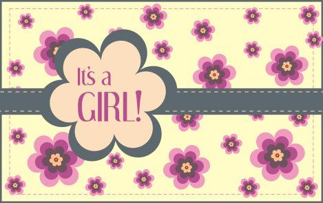 Its a girl greeting Icon Set