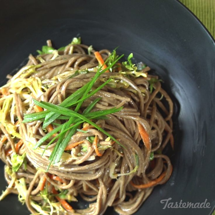 Made with soba noodles, fresh veggies, and a creamy peanut sauce, these easy, deliciously refreshing noodles will really make you look forward to lunchtime.