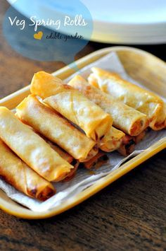 Vegetable spring rolls are a popular Asian appetiser or snack which comes with a variety of fillings. This is a vegetarian version, step by step.