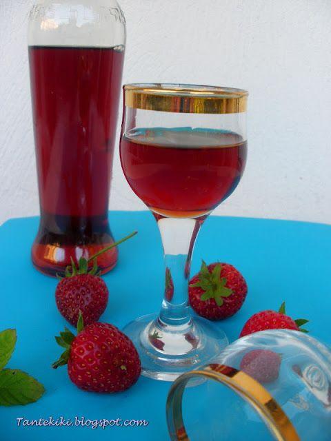 Tante Kiki: Λικέρ φράουλας, καθαρό και διάφανο