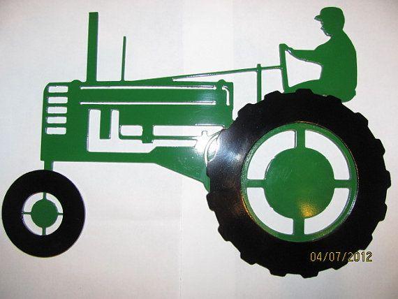 farmall or johndeere b tractor plasma cut by mmheavymetal on Etsy, $35.99