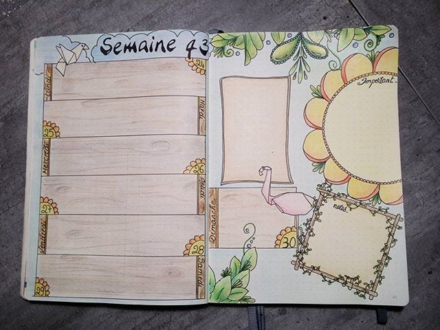 Ma semaine 43 - bullet journal