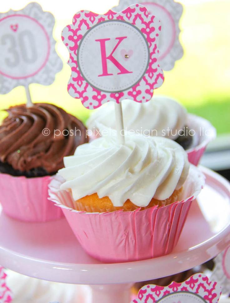 30 FLIRTY cupcake picks