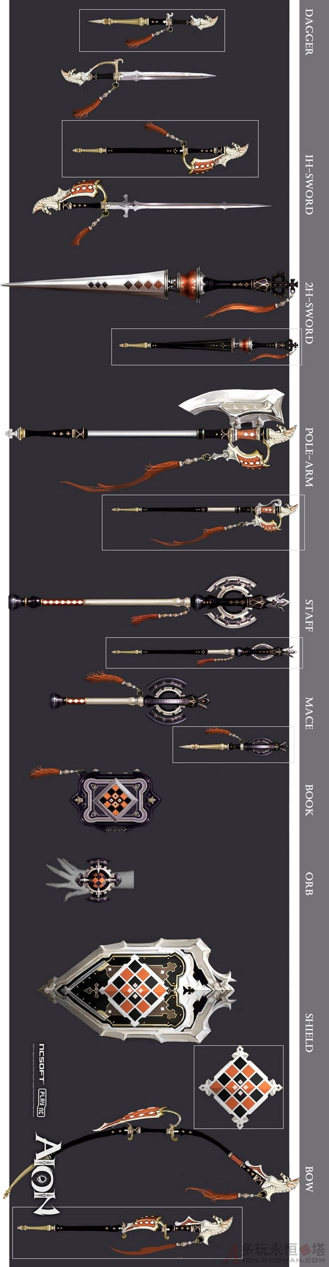 Weapon - referencias para dibujar armas, parecidas pero no las mismas