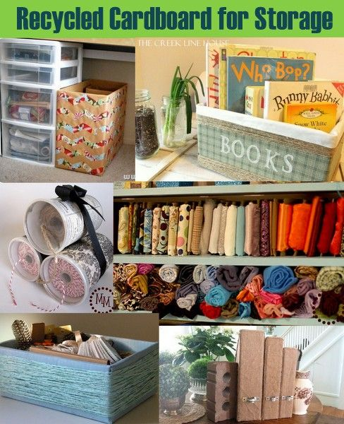 20 Plus Recycled Storage Solutions from @Angie Countrychiccottage