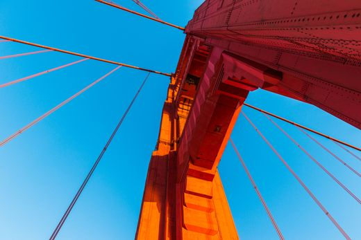 This postcard from San Francisco has us #SeeingRed while crossing the Golden Gate Bridge, a short distance from Grand Hyatt San Francisco.
