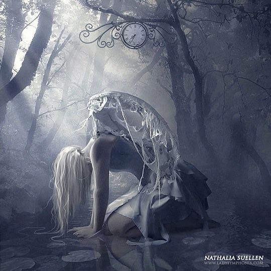Stunning Digital Art by Nathalia Suellen. I would call this The broken Angel.