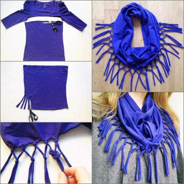 Refashion a T-shirt into a Scarf #diy #refashion