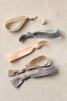 I love the Multitude Hair Ties from Anthropologie! They look cute on my wrist, too. You know, just in case I need to tie my hair back. :)