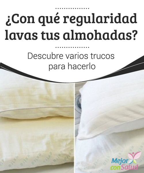 ¿Con qué regularidad lavas tus almohadas? Descubre varios trucos para hacerlo…