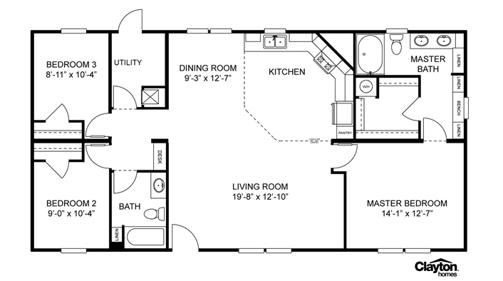 Mobile Home Sizes Design Ideas Residence Plans Floor 20499 moreover Oradell further Clayton Mobile Home Floor Plans Photos likewise The Lulamae By Buccaneer together with 238620480228787991. on clayton homes