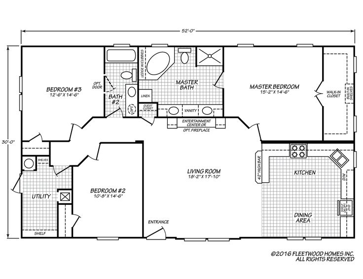 Canyon Lake 32523KFleetwood Homes Floor plans