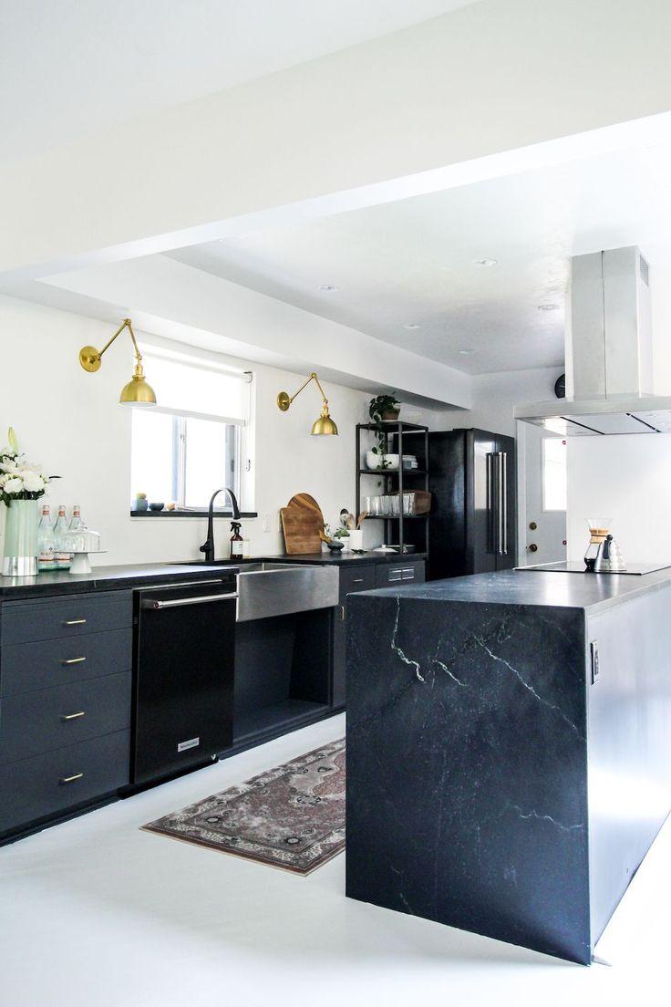 Cosmo condo kitchen showroom paris kitchens toronto - Kirsten Grove Unveils Her Waxed Soapstone Kitchen Reno And It Is Dreamy