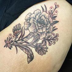 Marigold Tattoo on Pinterest   Aster Flower Tattoos Birth Flowers ...