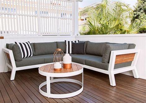 3pce Backer Lounge Shell/Teak/Southend