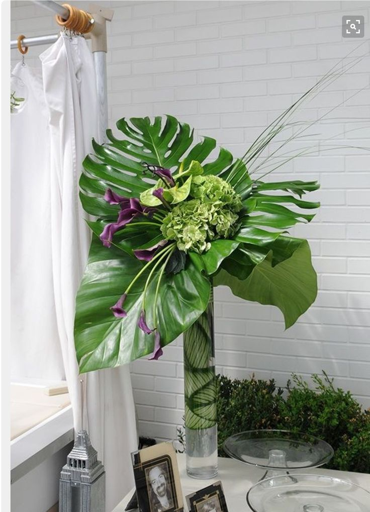 Tropucals ash pinterest greenery centerpieces and